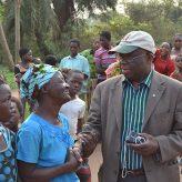 Daniel Shungu meeting with villagers